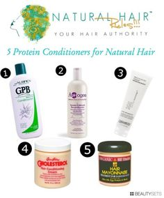 5 Protein Conditioners for Natural Hair. I have used the Queen Helene as well as Giovanni. Love them both!