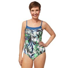 Modest Swimsuits, Women's One Piece Swimsuits, One Piece For Women, Sun Protection, Bra Sizes, Gender Female, Color Blue, Swimming, Swimwear