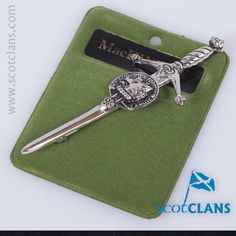 Pewter kilt pin with MacKinnon Clan Crest - From ScotClans