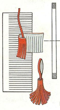 how to make leather tassels / как сделать кисточку  из кожи