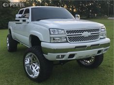 This 2006 Chevrolet Silverado 1500 is running American Force Trax Ss wheels AMP Mud Terrain Attack Mt A tires with Full Throttle Suspension Suspension Lift suspension. 2005 Chevy Silverado, Silverado Nation, Chevy Stepside, Chevy Pickups, Chevy Trucks Older, Chevy Diesel Trucks, Chevy Pickup Trucks, Chevrolet Trucks, Dodge Trucks