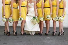 Yellow Bridesmaid Dress