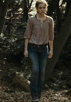 Hermione wearing Zara Blouse in Harry Potter and the Deathly Hallows 1.