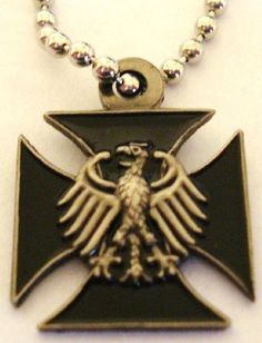 Silver polish eagle pendant gift ideas pinterest poland german eagle iron cross military army pendant necklace by military collectibles 999 great german mozeypictures Images