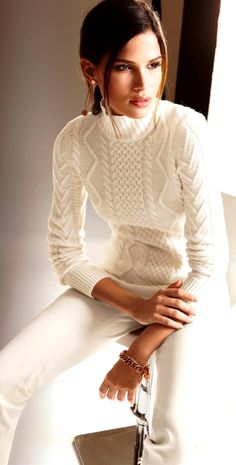 all winter white is a stunning look - every time I wear it, I get comments