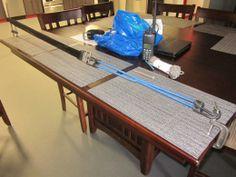 Great setup for making paracord belt
