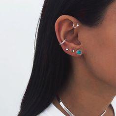Ohrknorpel Piercing, Bijoux Piercing Septum, Ear Piercings Cartilage, Orbital Piercing, Helix Ring, Double Cartilage, Tongue Piercings, Triple Ear Piercing, Piercing Chart