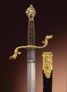 Dagger / set composed of rapier and dagger with scabbard    Dresden. Probably 1610. Probably Solingen blade.