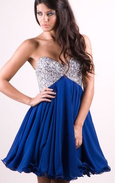 +30 vestidos de 15 años largos y cortos en color azul