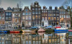 Amsterdam.  Such a beautiful picture as well.