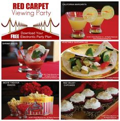 Red Carpet viewing party ~ snacks and food ~ hollywood party