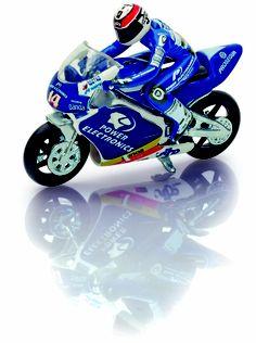 Blue Motorbike. (Guisval) Die-cast.