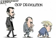 This is why republicans don't believe in evolution. It makes perfect sense now