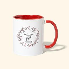Berry Wreath, Christmas Gifts For Friends, Cute Tshirts, Holiday Wreaths, Birthday Shirts, Reindeer, Christmas Sweaters, Coffee Mugs, Kids Outfits