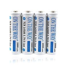Introducing ON THE WAY4Pcs 37V 14500 High Capacity 1200mAh AA Rechargable Lithium Battery. Great Product and follow us to get more updates!