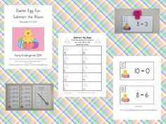FREEBIE!!!  Easter Egg Fun Subtract the Room (Minuends of 6 to 10)  http://www.teacherspayteachers.com/Product/Easter-Egg-Fun-Subtract-the-Room-Minuends-of-6-to-10-1154540
