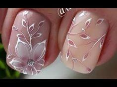 Stylish nail design Spring 2019 Top 10 Trendy Fashion Ideas by Nail art Nail Art Designs, New Nail Art Design, Nail Design Spring, Elegant Nail Designs, Flower Nail Designs, Spring Nail Art, Flower Nail Art, Elegant Nails, Stylish Nails