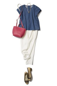 THE Summer Trend Coord makes with cool white linen pants - B - Fashion Coordination mail order | Bistro Flowers Tokyo