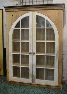 Black Dog Salvage - Architectural Antiques & Custom Designs: Custom Cabinet w/ Antique Arched Window Doors