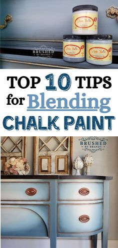 Mar 2020 - Achieving a smooth blend of paint colors on any painting project, large or small, can be tricky. Today, I am going to share My Top 10 Tips for Blending Dixie Belle Chalk Mineral Paint, so you have … Furniture Painting Techniques, Chalk Paint Furniture, Furniture Projects, Painting Tricks, Spray Painting, Kitchen Furniture, Furniture Refinishing, Furniture Design, Painting Tutorials