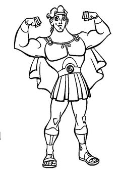 coloriage hercule Coloring Pages/LineArtDisneyHercules