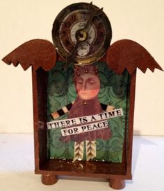 winged with clocks shrines...time for peace fly by DianaDDarden