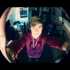 Connor Franta... fish eye lens always gives us the best view of connor.
