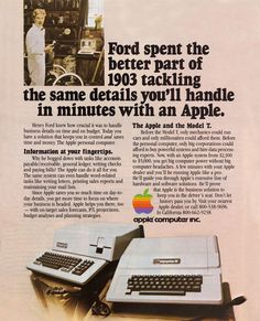 Apple Computer Inc. was established on April 1976 and incorporated on January Apple first started advertising its products i. Apple Advertising, Print Advertising, Print Ads, Advertising History, Steve Wozniak, Apple Tv, Alter Computer, Steve Jobs Apple, Old Computers