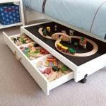 Underbed Play Table with Drawers by Great Little Trading Co. (does not ship to U.S. but think of the DIY possibilities)