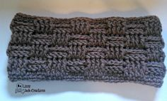 Basket Weave Ear ... by Jenna Johnston | Crocheting Pattern - Looking for your next project? You're going to love Basket Weave Ear Warmer - Adult by designer Jenna Johnston. - via @Craftsy