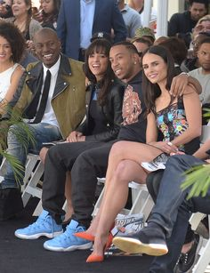 Tyrese Gibson, Michelle Rodriguez, Ludacris and Jordana Brewster attend his hand and footprint ceremony at TCL Chinese Theatre IMAX on April 2015 in Hollywood Michelle Rodriguez, Fast And Furious Cast, The Furious, Gal Gadot, Vin Diesel Shirtless, Paul Walker Death, Dom And Letty, Super Fast Cars, Dominic Toretto
