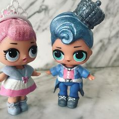 Crystal Queen & King!  #lolsurprise #lolsurprisedolls Doll Crafts, Diy Doll, Pop Dolls, Girl Dolls, My Mini Mixieqs, Glam And Glitter, Top Toys, 6th Birthday Parties, Art Challenge