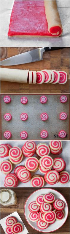 These festive spiral pinwheel cookies require a bit of effort and patience, but are a fun project. Be sure to allow plenty of time for the d...