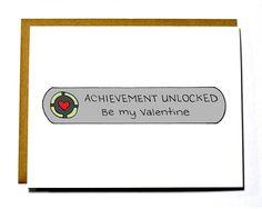 Geeky Valentines Day card  Achievement by DarkroomandDearly