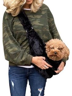 Adjustable Sling Bag - Black Bella Puppy Carrier, Sling Carrier, Puppy Supplies, Designer Dog Clothes, Dog Items, Dog Design, Pet Toys, Warm And Cozy, Fur Babies