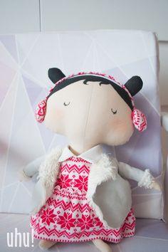 Zosia - Tilda Sweetheart świąteczna lalka w uhu! handmade na DaWanda.com