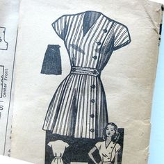 1940s Vintage Sewing Pattern  Anne Adams 4547 by SelvedgeShop