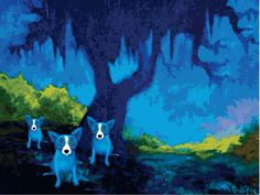Waiting for the Cajuns to Arrive, 2009.  George Rodrigue