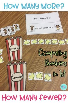 Introducing & teaching the idea of comparing numbers in kindergarten, first and 2nd grade is easier when students play games while they engage in learning activities during math centers. This resource is perfect for this or for teaching in a small group.