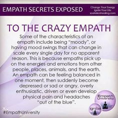 You're an Empath, Not Crazy! – Guided By Spirit: Chronicling My Journey of Awakening Empath Traits, Intuitive Empath, Psychic Empath, Empath Abilities, Psychic Abilities, Highly Sensitive Person, Sensitive People, Infp, Psychic Development