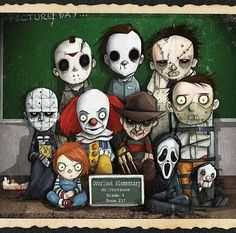 Horror class photo.