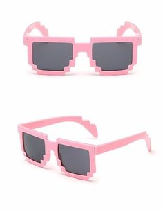 Óculos Sol Escuro 8 Bits Geek Nerd Pixel Minecraft + Brinde! - R$ 18,00 em Mercado Livre
