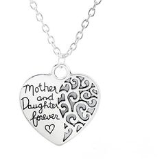 MOTHER and DAUGHTER FOREVER Heart Charm Necklace Pendant Mothers Day Graduation #HandmadewithLove #Pendant