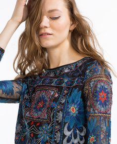 EMBROIDERED TOP-View All-TOPS-WOMAN | ZARA United States