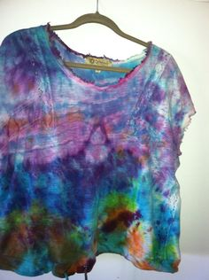 Oil+and+Water+Blouse+To+Die+For+Tie+Dyes+by+DandelionBreak+on+Etsy,+$20.00