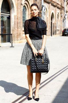 Falling n love for Dior Lady Dior in black leather. Rent it on www.rentfashionbag.com!