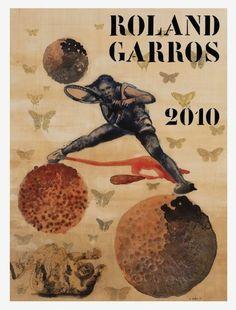 Roland Garros 2010: Nalini Malani #rolandgarros #posters #tennisposters