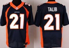Nike Denver Broncos #21 Aqib Talib 2013 Blue Elite Jersey