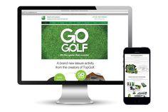 Go Golf responsive website design @satcreative