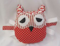 Cute Fabric Owl-handmade with love.x. by Kazziesbruins on Etsy
